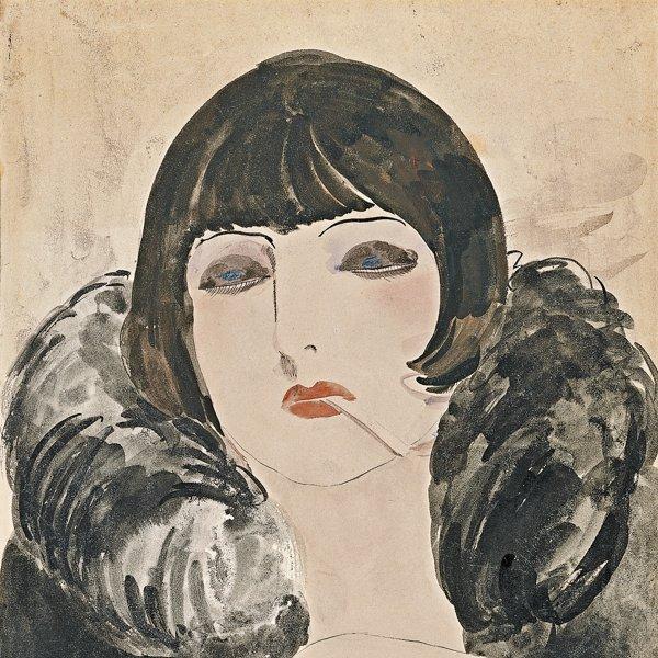 Retrato de una mujer con un cigarrillo (Kiki de Montparnasse)