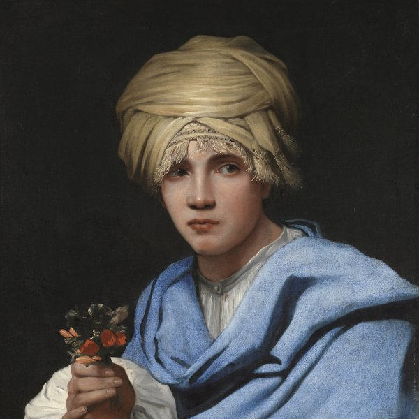 Boy in a Turban holding a Nosegay