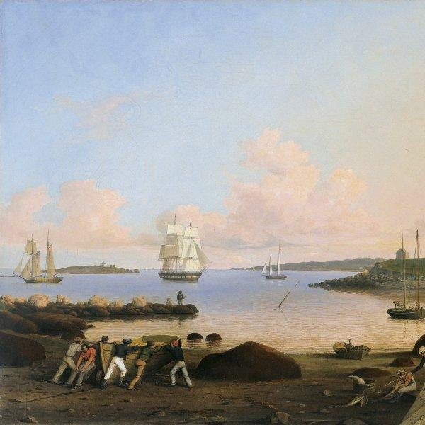 El fuerte y la isla Ten Pound, Gloucester, Massachusetts