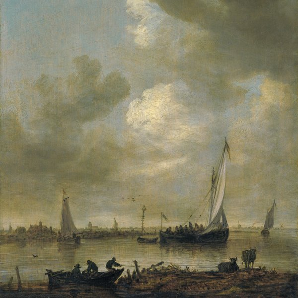 "A River Estuary with ""Smalschips"" and Fishermen"