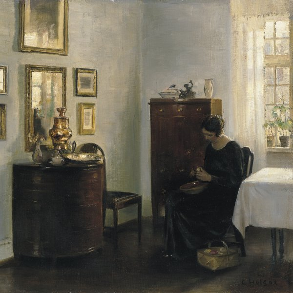 Woman with Fruit Bowl