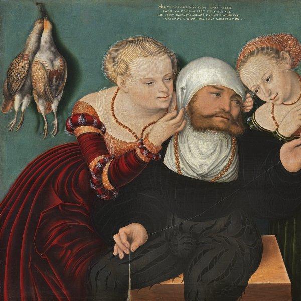 Hans Cranach. Hércules en la corte de Onfalia