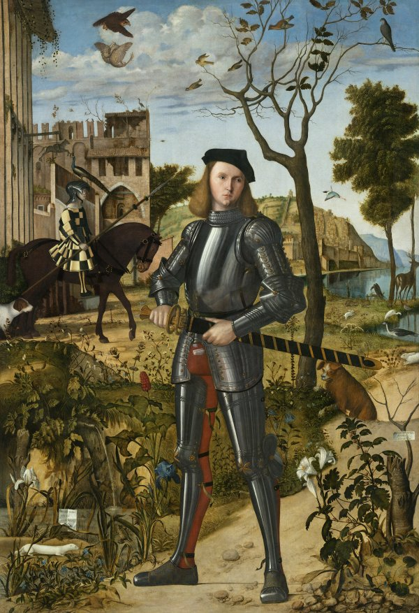 Vittore Carpaccio. Young Knight in a Landscape, ca. 1505