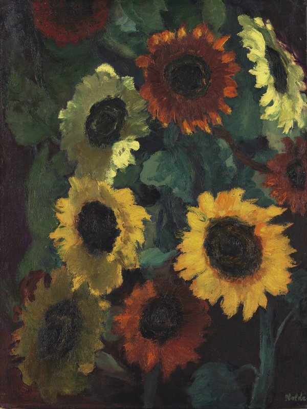 Glowing Sunflowers. Girasoles resplandecientes, 1936