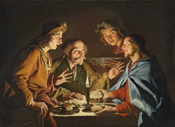 The Supper at Emmaus - Stom, Matthias. Museo Nacional Thyssen-Bornemisza