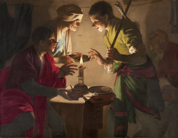 Esau Selling His Birthright. Esaú vendiendo su primogenitura, c. 1627