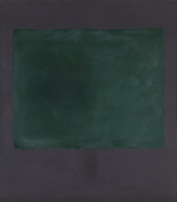 Untitled (Green on Maroon). Sin título (Verde sobre morado), 1961