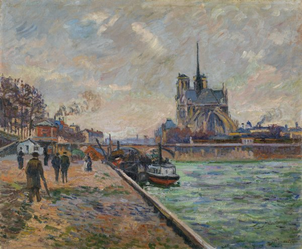 The Bridge of the Archbishop and the Apse of Notre-Dame, c. 1880