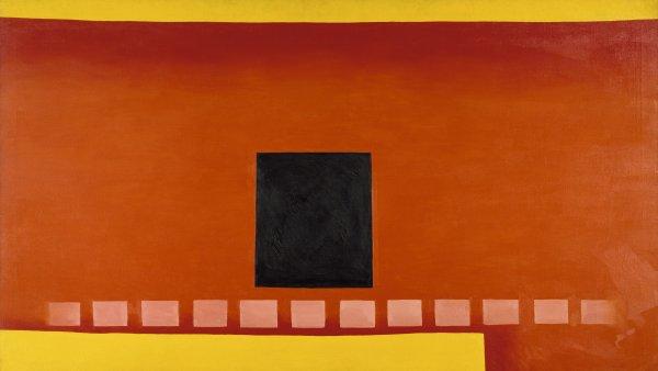 Puerta negra con rojo, 1954